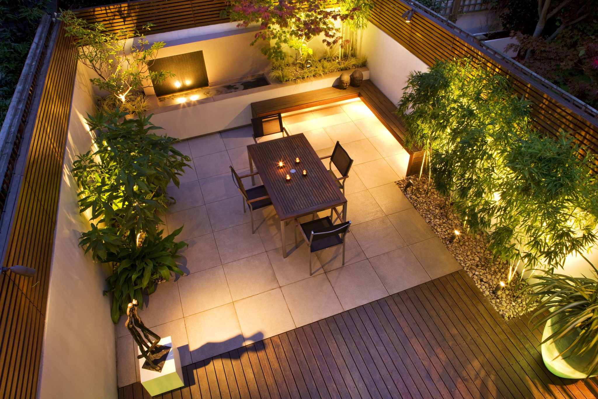 Garden lighting gallery from garden lighting london for Terrace lighting